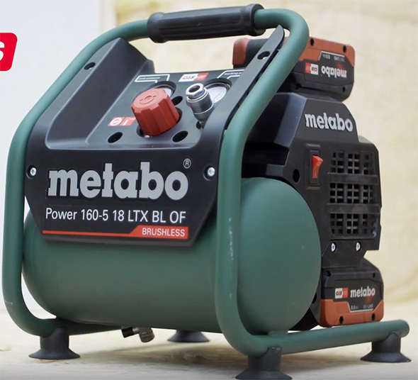 Metabo 160-5 18 ltx bl of Cordless Air Compressor Second Battery Storage