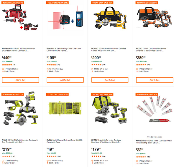 Milwaukee Cordless Power Tools Deals of the Day 6-19-19 Page 2