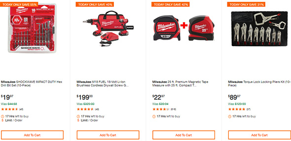Milwaukee Cordless Power Tools Deals of the Day 6-19-19 Page 3