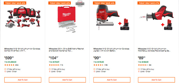 Milwaukee Tools Deals of the Day 6-10-19 Page 1
