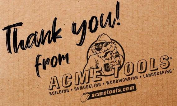 Acme Tools Customer Appreciation Sale July 2019