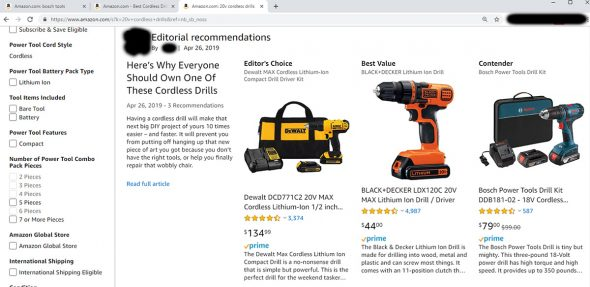Amazon Tool Editorial Recommendations Series 2