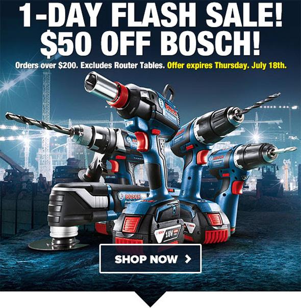 Bosch 50 off 200 Flash Sale Tool Nut 7-18-2019