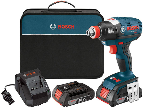 Bosch IDH182 18V Brushless Hybrid Impact Driver Wrench Kit