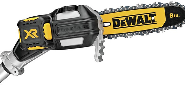 Dewalt Cordless Pole Chain Saw Closeup