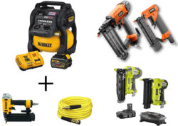 Home Depot Pneumatic and Cordless Nailer Deals 7-2-19