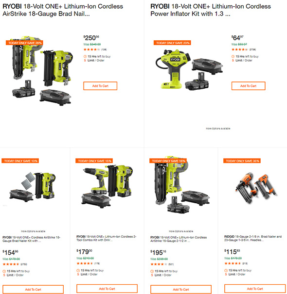 Home Depot Pneumatic and Cordless Nailer Deals 7-2-19 Page 1