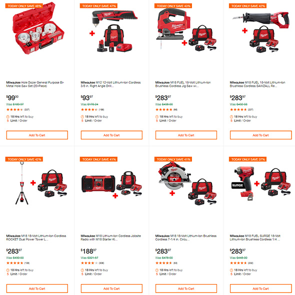 Milwaukee Cordless Power Tool Deals of the Day 7-24-19 Page 2
