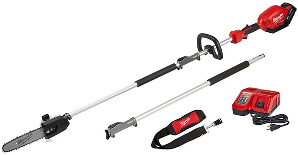 Milwaukee M18 Fuel Quik-Lok Cordless Pole Saw Configuration