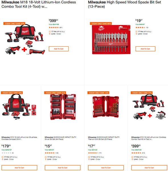 Milwaukee Tool Deals of the Day 7-3-2019 Page 1