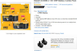 Amazon Dewalt Battery on-Page Advertisement 3