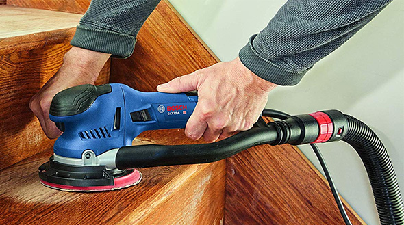 Bosch GET75-6N Dual Mode Sander Refinishing Stairs