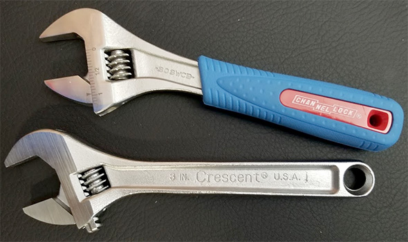 Channellock and Crescent Adjustable Wrenches