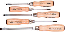 Felo Wood-Handle Screwdriver Set