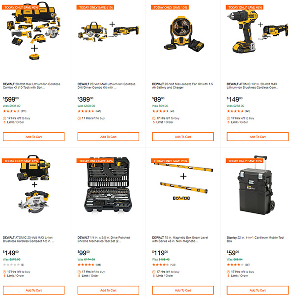 Home Depot Dewalt Tool Deals of the Day 8-29-19 Page 1