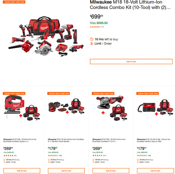 Milwaukee Tool Deals of the Day 8-19-2019 Page 1