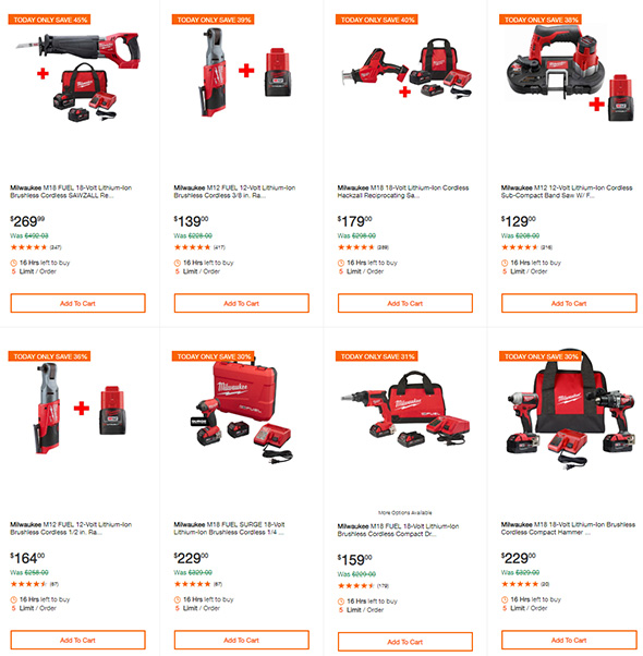 Milwaukee Tool Deals of the Day 8-19-2019 Page 2