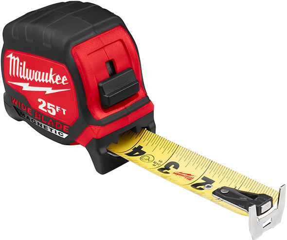 Milwaukee Wide Blade Tape Measure with Magnetic Hook