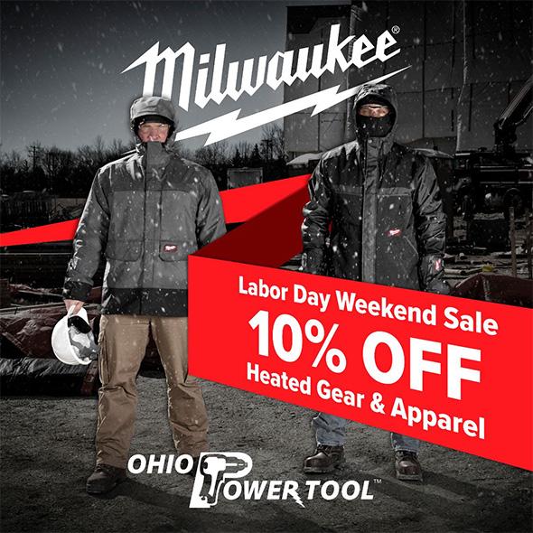 OPT Labor Day 2019 Milwaukee Heated Gear Sale