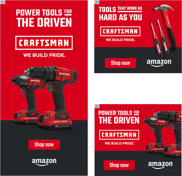 Amazon Craftsman Ads Fall 2019