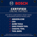 Bosch Certified Online Partner Notice on Amazon