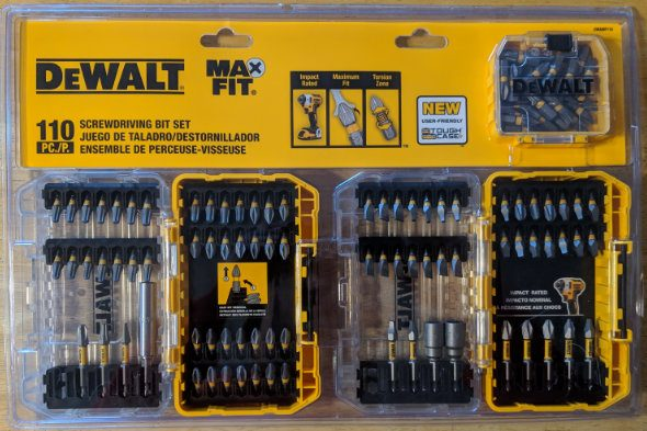 Dewalt MaxFit Bits in Small ToughCase+Containers