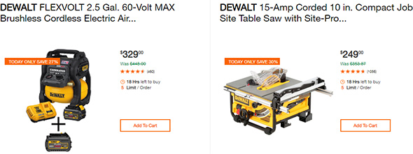 Dewalt Tool Deals of the Day 9-16-2019 Page 1