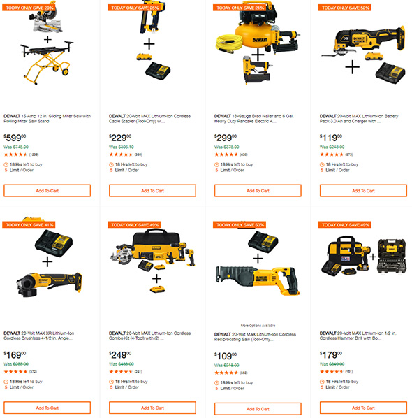 Dewalt Tool Deals of the Day 9-16-2019 Page 2