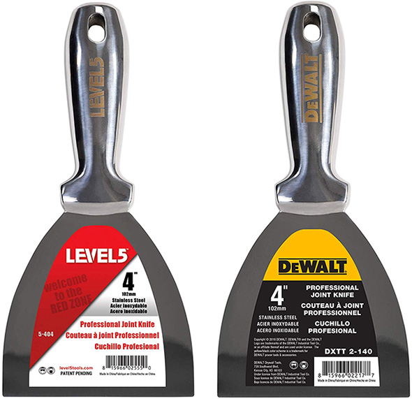 New Dewalt and Level 5 One-Piece Drywall Knives – 100