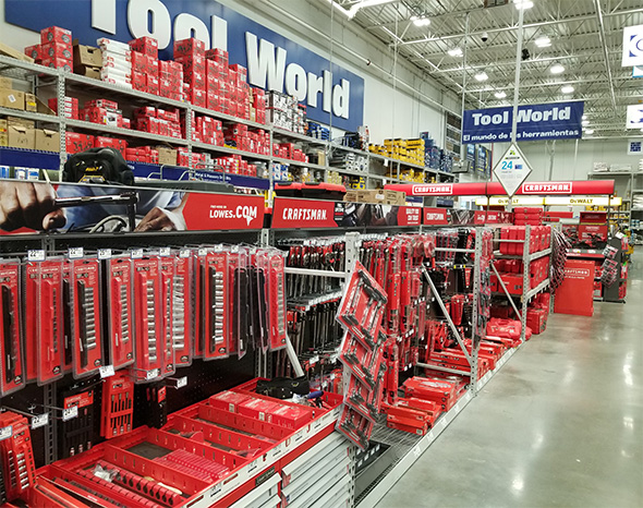 Lowes Craftsman Tools Section in Stores