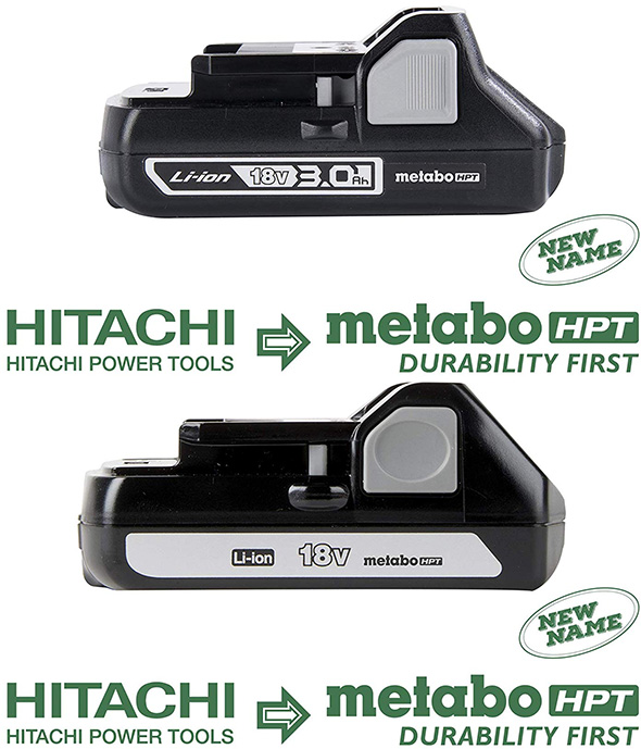 Metabo HPT 18V Cordless Power Tool Batteries