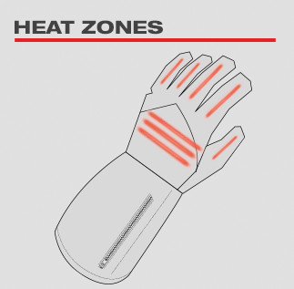 Milwaukee Heated Gloves Heat Zones