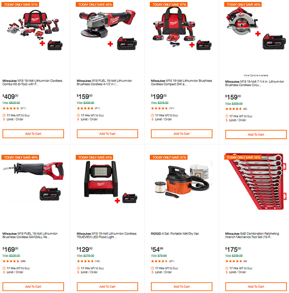 Milwaukee Tool Deals of the Day 9-26-2019 Page 1
