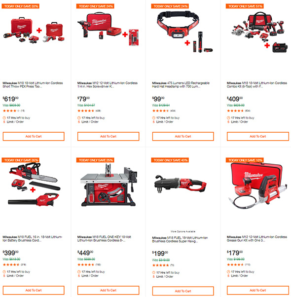 Milwaukee Tool Deals of the Day at Home Depot 9-10-19 Page 2
