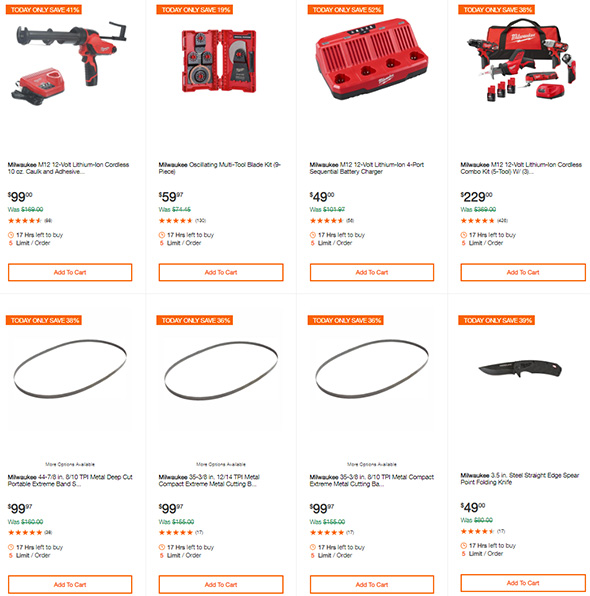 Milwaukee Tool Deals of the Day at Home Depot 9-10-19 Page 3