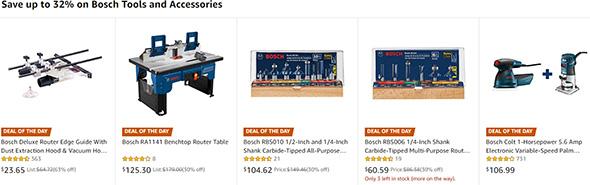 Bosch Router Tool Deals 102519