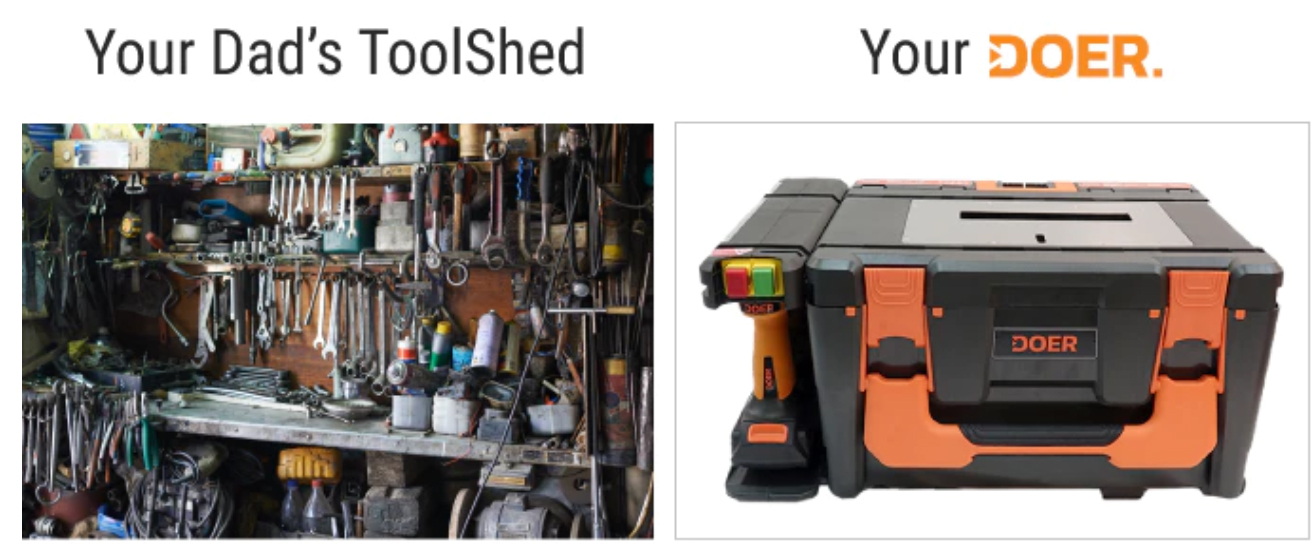 Dad Tool Shed vs DOER Cordless Power Tool Kit