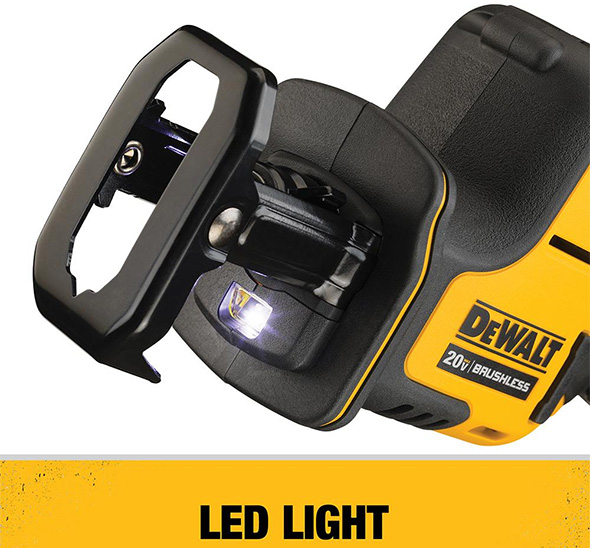 Dewalt Atomic DCS369B One-Handed Cordless Reciprocating Saw LED Worklight