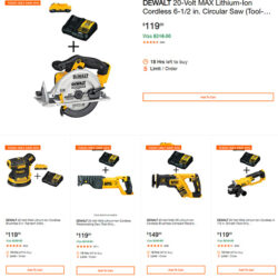 Dewalt Cordless Power Tool Deals of the Day Home Depot 10-13-19 Page 1