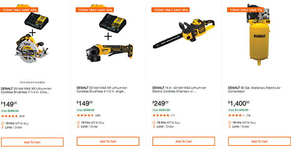 Dewalt Cordless Power Tool Deals of the Day Home Depot 10-13-19 Page 2