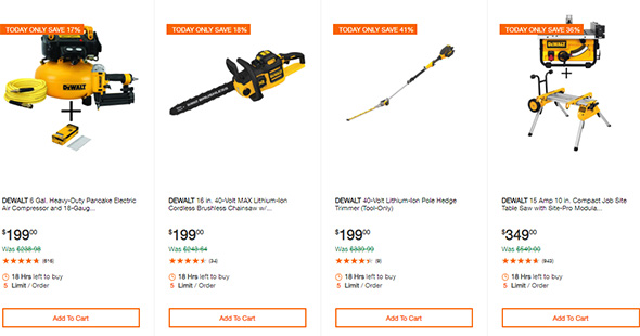 Dewalt Cordless Power Tool Deals of the Day Home Depot 10-13-19 Page 3