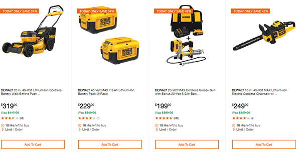 Dewalt Cordless Power Tool Deals of the Day Home Depot 10-13-19 Page 4