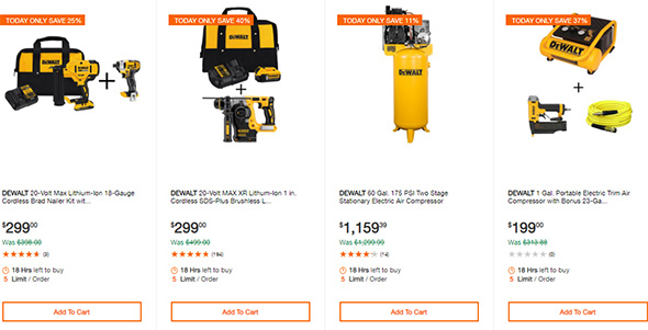 Dewalt Cordless Power Tool Deals of the Day Home Depot 10-13-19 Page 6