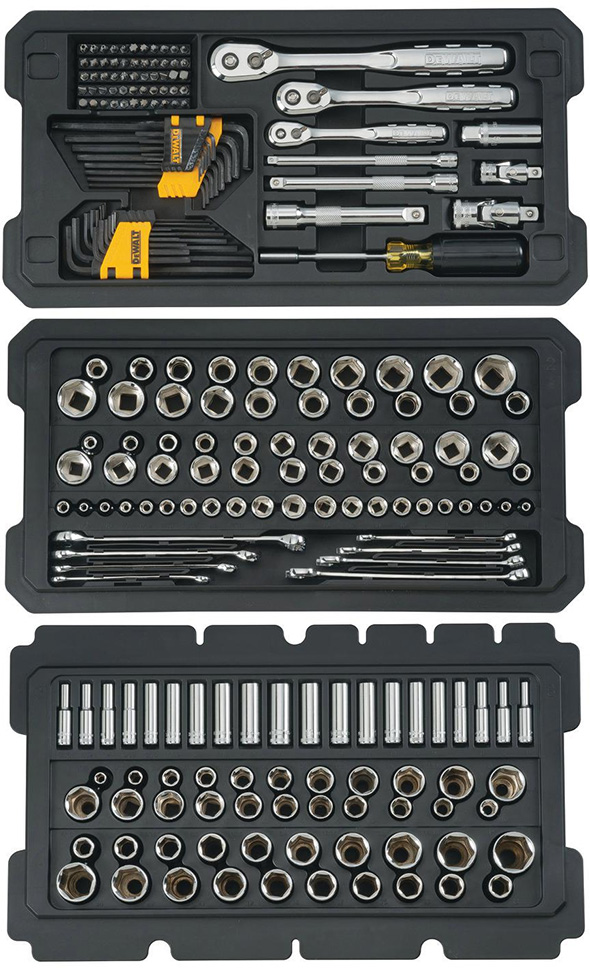 Dewalt Tough System Mechanics Tool Set Contents