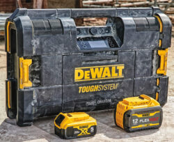 Dewalt ToughSystem 2 Jobsite Radio Charger Bluetooth Music Player