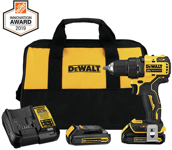Home Depot Innovation Award 2019 Dewalt Atomic Cordless Drill Kit