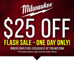 Milwaukee Tools Flash Sale 10-15-19