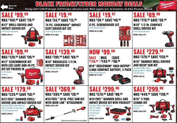 Acme Tools Black Friday 2019 Sales Flyer Page 4