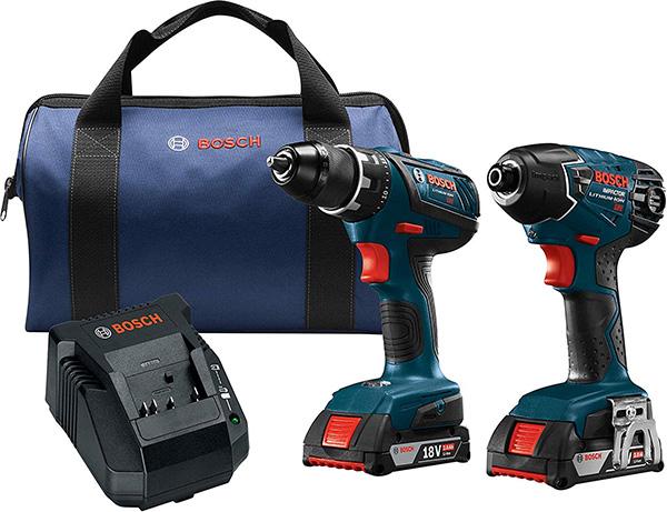 Bosch CLPK232A-181 18V Cordless Drill and Impact Driver Combo Kit
