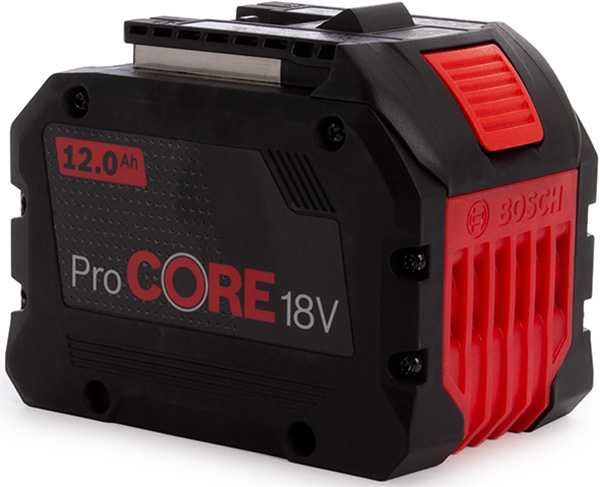 Bosch CORE18V 12Ah Battery Front Side